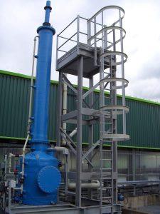 GRP platform and ladder