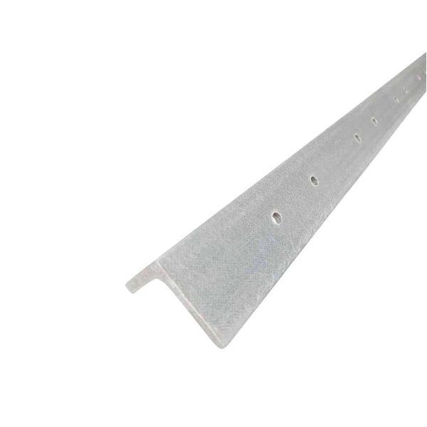 2.72m Wide GRP Palisade Fencing Rail Grey